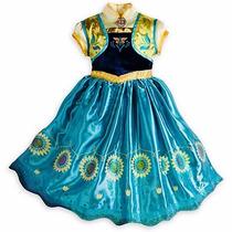 Vestido Disfraz Frozen Anna Fever Americanos No Disney