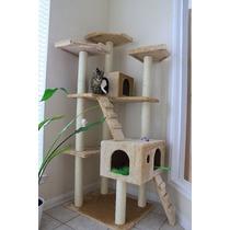 Arbol Trepador Rascador Para Gatos Casa Mascota Juego Casita