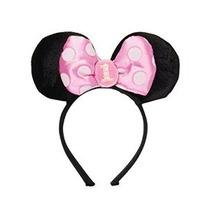 Amscan Minnie Mouse Primero Cumpleaños Diadema Negro / Rosa
