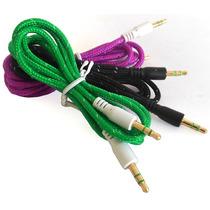 Cable Adaptador Plug 3.5 Macho Tela Estereo, Ipod O Mp3 Aux