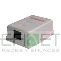 Accredke1161 Roseta De Pared Con 1jack Cat6 Bolc/10pz Efinet