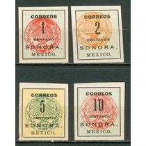 Sc 405-408 Año 1914 Sonora. Mexico.