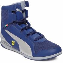 2014 Puma Ferrari Valorosso Webcage Media Bota Blue Silver