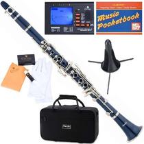 Clarinete Mendini Mct-e Azul Afinador + Accesorios Vv4
