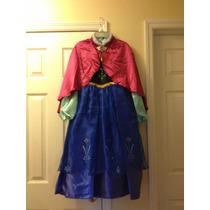 Vestido De Anna Frozen Original De Disney Store Talla 5-6