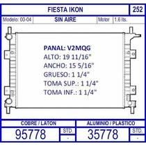 Radiador Ford Fiesta Ikon 1.6 2000 2001 2002 2003 2004 / S.a