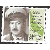 Estampilla Idolos Populares Pedro Infante 1993 Vbf