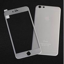 Iphone 6 6 Plus Funda Doble Metalico Mica Sticker Rosa Plata