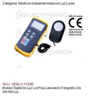 Medidor Digital Luz Lcd Laboratorio Fotografico 200,000 Lux