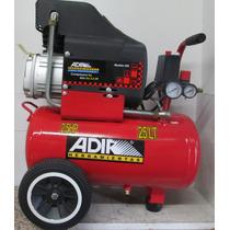 Compresor De Aire 2.5hp Con Tanque De 25lts Adir 202 Vv4