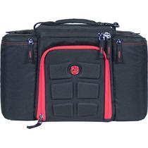 Mochila 6pack Original Importada Sixpack Bag Negro Con Rojo