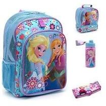 Mochila Frozen Disney Store Acabado Brillante Hermosa