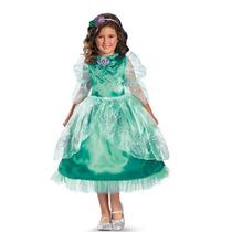Disfraz Disney Ariel Sirenita Sirena Niña Talla 7/8 + Regalo