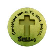 Paquete 15 Pzas Moneda Milagrosa Cruz - Santitos
