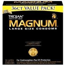 Condon Trojan Magnum Tamaño Grande L Size 36 Pack Large