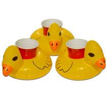 Inflable Tipo Pato Flotante P/ Bebida Alberca - 3 Pzas
