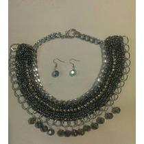 Collares Tejidos A Gancho, Cadena Aluminio, Elegantes