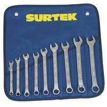 Juego 9 Llaves Combinadas Métricas En Estuche Surtek Hm4