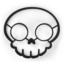 Molde En Forma De Calavera Fred Negro Skull