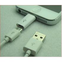Adaptardor Micro Usb A Lightning Iphone 5 5s Ipod Ipad
