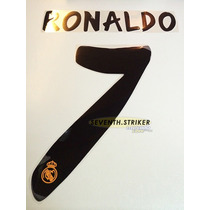 Tipografia Ronaldo Real Madrid 13-14 Numeracion Nombre