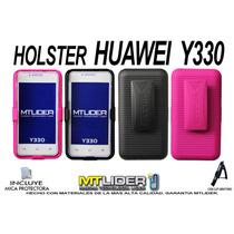 Funda Clip Holster Case Combo Huawei Y330 + Mica Gratis
