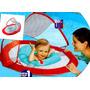 Flotador Infantil Swimways Canopy Rojo / Azul