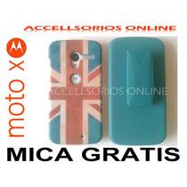 Clip Combo Protector Motorola Moto X Gran Bretaña Inglaterra