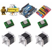 Kit Mini Cnc Tipo Grbl, Arduino, Polulu Nema 17 Shield Cnc