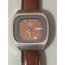 Reloj Seiko 5 Automatico Vintage Con Dia Y Fecha Café # 114
