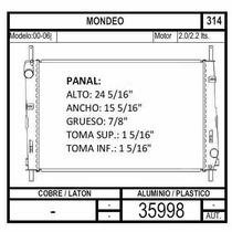Radiador Mondeo 2.0 Lts 2000 2001 2002 2003 2004 2005 2006