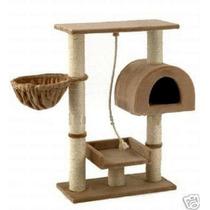 Casa, Area De Juegos Y Afilador De Uñas Para Gatos Mascotas