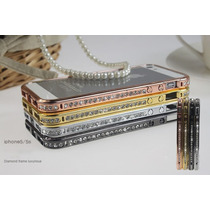 De Lujo Bumper Metal Modelo Diamonds Iphone 4s 4g 5s 5g Vv4