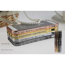 De Lujo Bumper Metal Swarovski Iphone 4s 4g 5s 5g Vv4