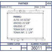 Radiador Peugeot Partner 1.6 Lts. Modelo 2007 2008 2009 2010