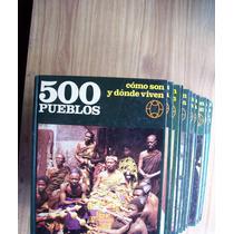 Encicl-500 Pueblos-lote 8 Tomos 1 Al 7 Y 10-p.dura-ilust-vbf