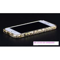 De Lujo Bumper Cristales Swarovski Iphone 5s 5g Vv4