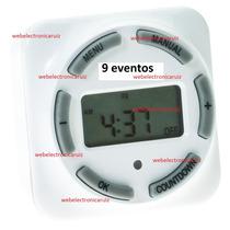 Temporizador Digital 9 Eventos Programables 120 V / 1750 W