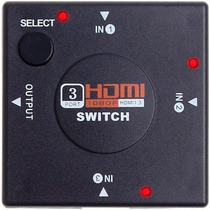 Switch Selector Splitter Para Cables Hdmi 1080p 3 Puertos!