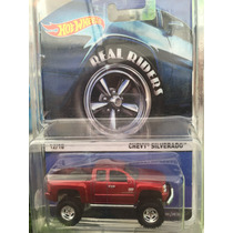 Hot Wheels Real Riders Chevy Silverado - Llantas De Goma
