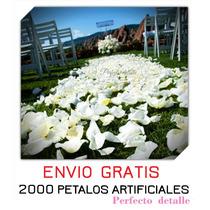 2000 Petalos De Rosa Artificiales Para Ese Dia Especial