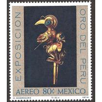 México Oro Del Perú 1974 Figura Prehispánica Inca