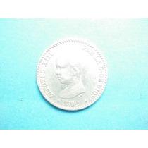 España Moneda Alfonso Xiii 50 Centimos Fecha 1892 Plata
