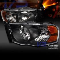 Faros Dodge Ram 2002 -2003 -2004 -2005, Negros, Accesorios