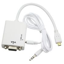 Convertidor Micro Hdmi Vga Audio Video Tablet Celular Camara