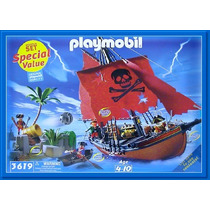 Playmobil, Set De Aventura Pirata 3133/3619, Descontinuado