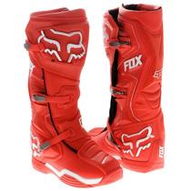 Botas Fox Comp 8 Roja Mx 2016 Motocross Atv Talla 8