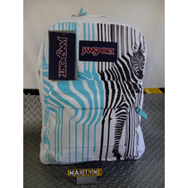 Mochila Jansport Superbrak Animal Print Zebra Backpack