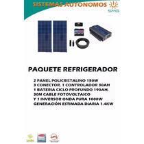 Kit 2 Panel Fotovoltaico Refrigerador - Modulo Energía Solar