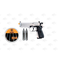 Marcadora Beretta 92 Fs Nickel Airsoft Pellet Co2 4.5mm Xtre